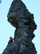 Rock Climbing Photo: Can you see her face?