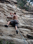 Rock Climbing Photo: 5.9 mixed route off of GH trail.