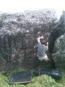 Rock Climbing Photo: Jak a few moves in.