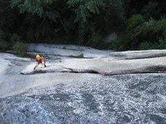 Rock Climbing Photo: Matt Elliott on the flake