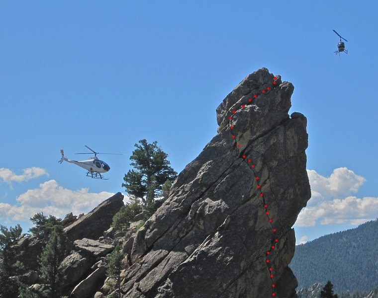 Rock Climbing Photo: Search & rescue (?) doing some hover training arou...
