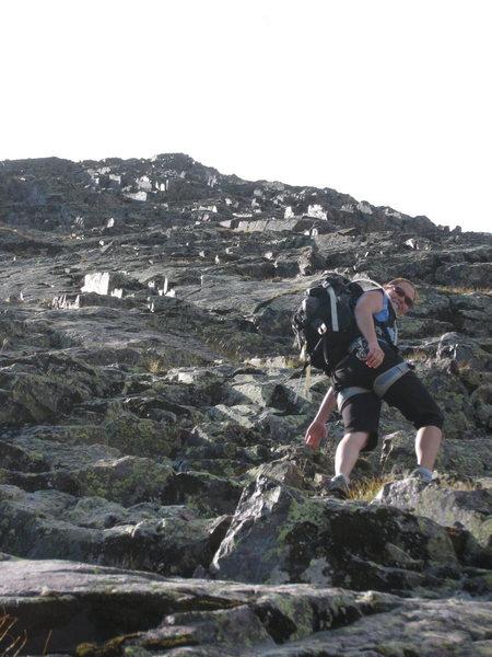 Rock Climbing Photo: Headed up.