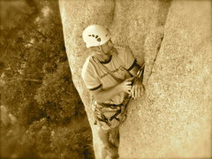 Rock Climbing Photo: Getting something in.