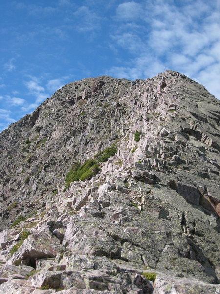 The Northeast Ridge Route (also the descent).