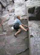 Rock Climbing Photo: Breezing the lower section of Plethora... A lead s...