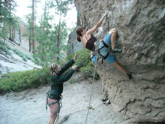 Rock Climbing Photo: The boulder start to Ruffles  July 2010