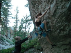 Rock Climbing Photo: Work those feet :)  All photos by Carlos from Mamm...
