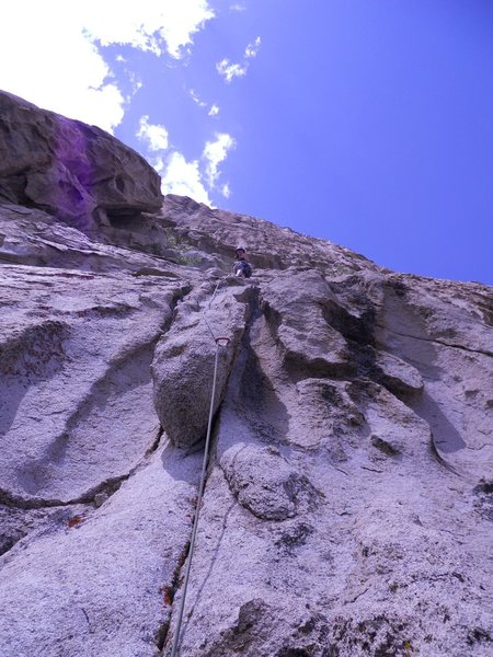 Rock Climbing Photo: Pitch 2: objects may be more vert and less cruiser...