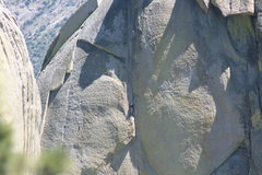 Rock Climbing Photo: Johnson getting ready for the last pitch of Igor U...