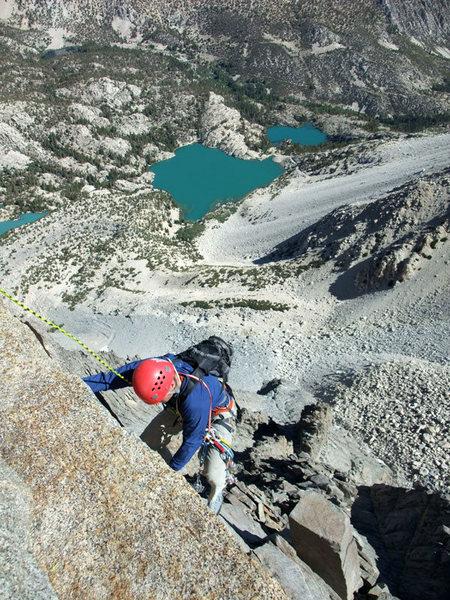 Rock Climbing Photo: following the 5.7 pitch