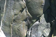 Rock Climbing Photo: Sheila on Igor Unchained with Nathan on belay. 8-2...