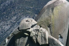 Rock Climbing Photo: Noelle and Johnson on top of the Witch taking a br...