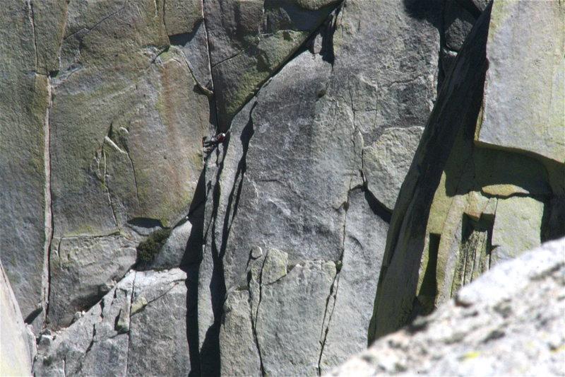 Rock Climbing Photo: Nathan belaying  on Igor Unchained. 8-21-10