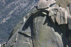 Rock Climbing Photo: Sheila nearing the top of Igor Unchained, Johnson ...