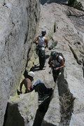 Rock Climbing Photo: Nathan, Marina and Agina safely on top. 8-21-10