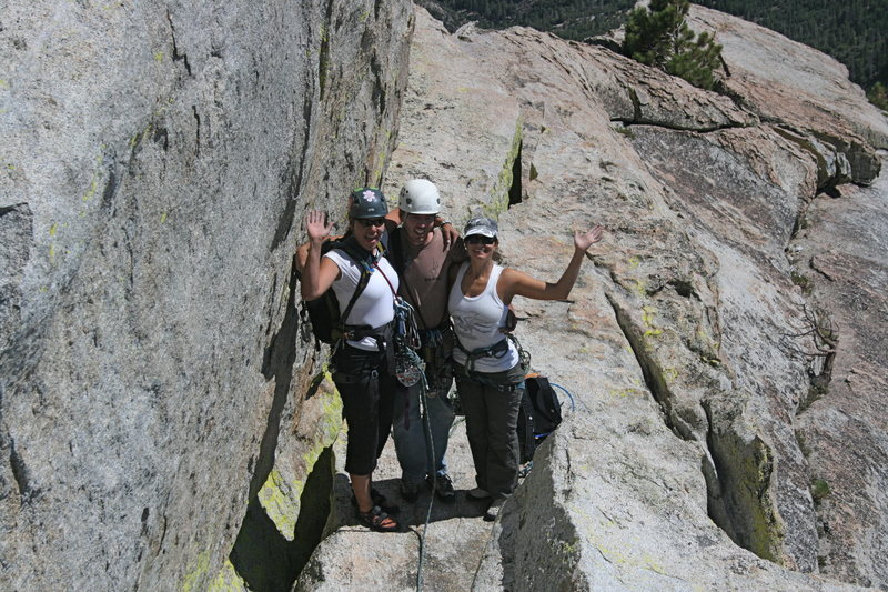 Rock Climbing Photo: Agina, Nathan and Marina.  2 beautiful partners, m...