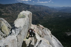 Rock Climbing Photo: Agina, Nathan and Marina. Top of Poof on the Magic...
