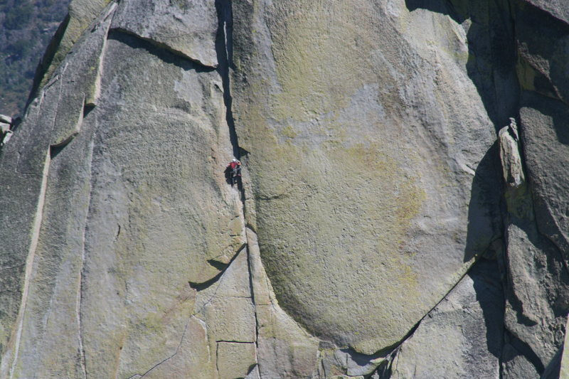 Nathan on his way up Igor Unchained. 8-21-10