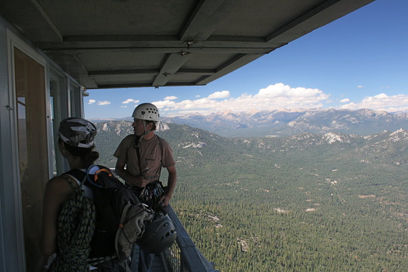 Rock Climbing Photo: Nathan and Marina at the lookout on the Magician. ...