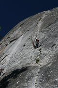Rock Climbing Photo: Nathan at the 1st belay and Sheila heading up. The...