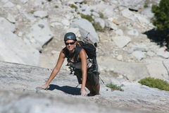 Rock Climbing Photo: Marina on her first trad lead coming up pitch 2. T...