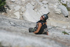 Rock Climbing Photo: Marina at the pitch 2 belay. The Tree Route on Dom...
