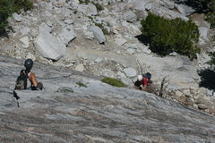 Rock Climbing Photo: Marina belaying Nathan up pitch 2. The Tree Route ...
