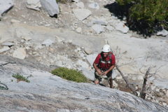 Rock Climbing Photo: Nathan coming up pitch 2. The Tree Route on Dome R...