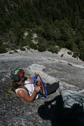 Rock Climbing Photo: Agina starting to sort gear so we can move on to t...