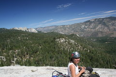 Rock Climbing Photo: Agina on top  of Dome Rock with a nice view of the...