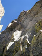 Rock Climbing Photo: Ross just below the runout on P3.  The pocketknife...