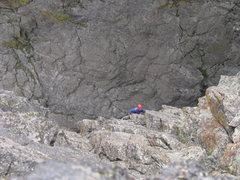 Rock Climbing Photo: Nearing the top of the final pitch.  You can almos...