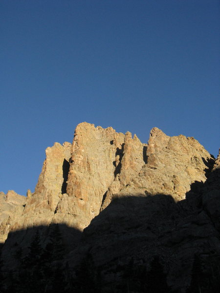 Rock Climbing Photo: The Petit and the Sabre in early morning light.