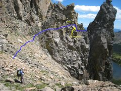 Rock Climbing Photo: Approach to notch.  Since someone posted that they...