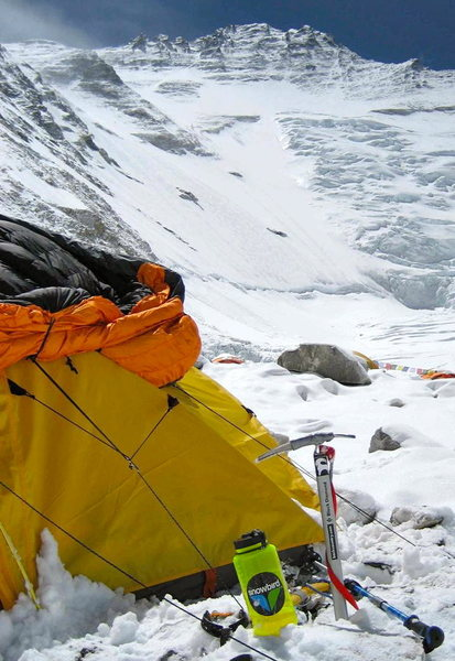 Rock Climbing Photo: Everest, South Col Route, Camp 2 below the Lhotse ...