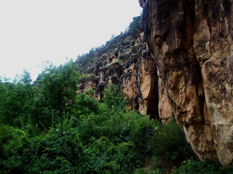 Rock Climbing Photo: Come rain or shine.