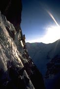 Rock Climbing Photo:  Tamara's traverse. Moonflower buttress.  Photo: C...