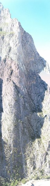 Rock Climbing Photo: Panoramic of the route.