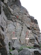 Rock Climbing Photo: Unknown 5.9 crack on left.