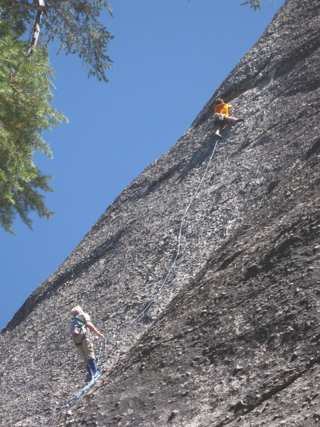 Climbers on The Imperial March (5.10b)