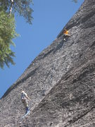 Rock Climbing Photo: Climbers on The Imperial March (5.10b)