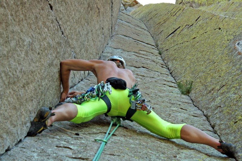 Rock Climbing Photo: Rocking it old school