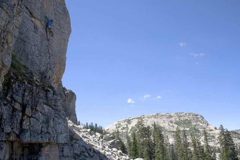 Rock Climbing Photo: Cassie loving it on Peyote Trip.