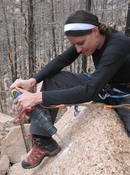 Rock Climbing Photo: bolting