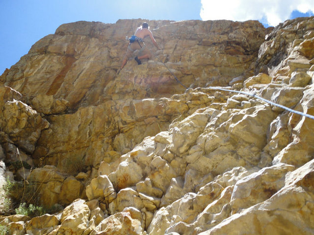 Rock Climbing Photo: get some