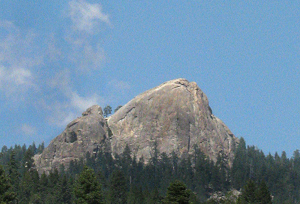 Rock Climbing Photo: Hawk Dome is the shorter dome to the left. Photo b...