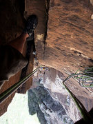 Rock Climbing Photo: Looking down the 10a pitch