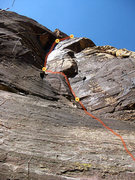 Rock Climbing Photo: first 4 pitches