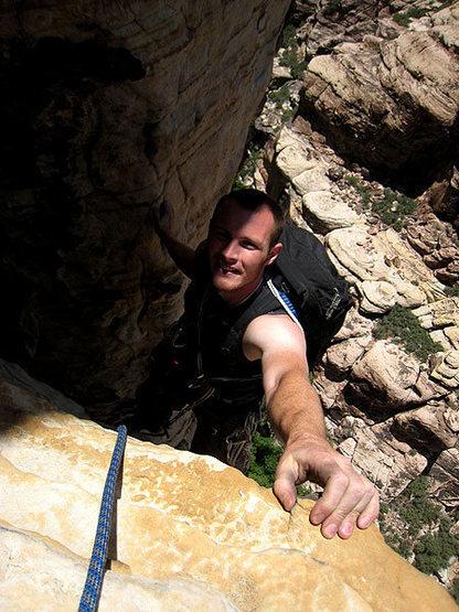 Rock Climbing Photo: Jascha on P5