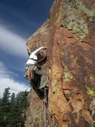 Rock Climbing Photo: pitch 2 of 'Handcracker Direct', Eldorado canyon, ...